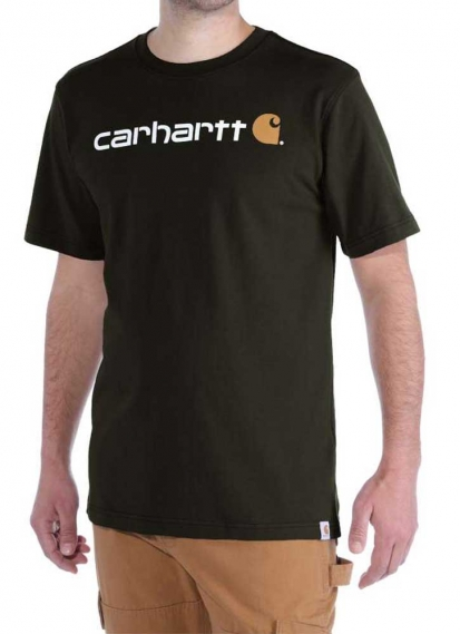 CARHARRT EMEA CORE LOGO T-SHIRT DARK-GREEN