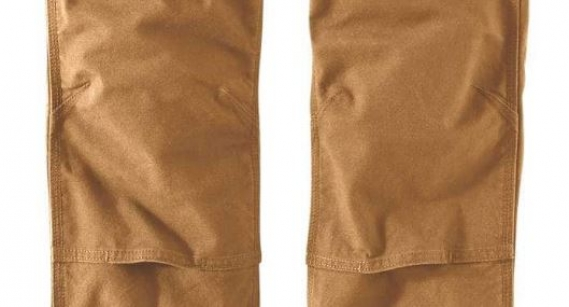 CARHARTT STRAIGHT FIT STRETCH DUCK DOUBLE FRONT PANTS BROWN