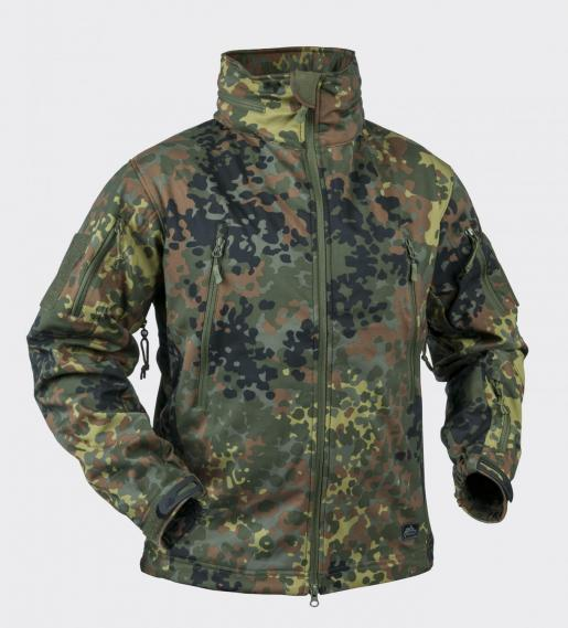 HELIKON-TEX GUNFIGHTER FLECKTARN SOFTSHELL JACKE