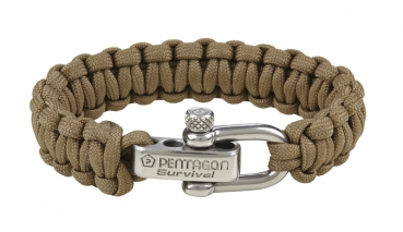 PENTAGON SURVIVAL BRACELET 2.0 COYOTE
