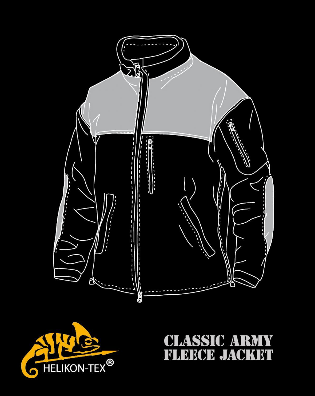 Helikon Tex Classic Army Fleece Jacket Black schwarz Outdoor Jacke