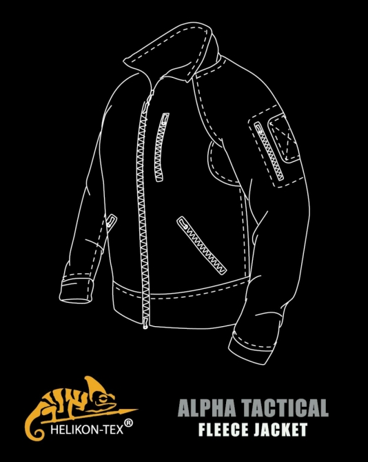 HELIKON TEX ALPHA GRID TACTICAL FLEECE JACKE SHADOW-GREY