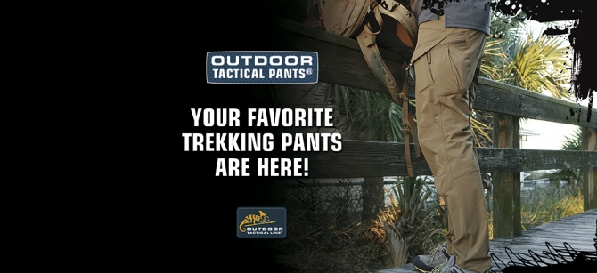 HELIKON TEX OUTDOOR TACTICAL PANTS OTP TAIGA-GREEN