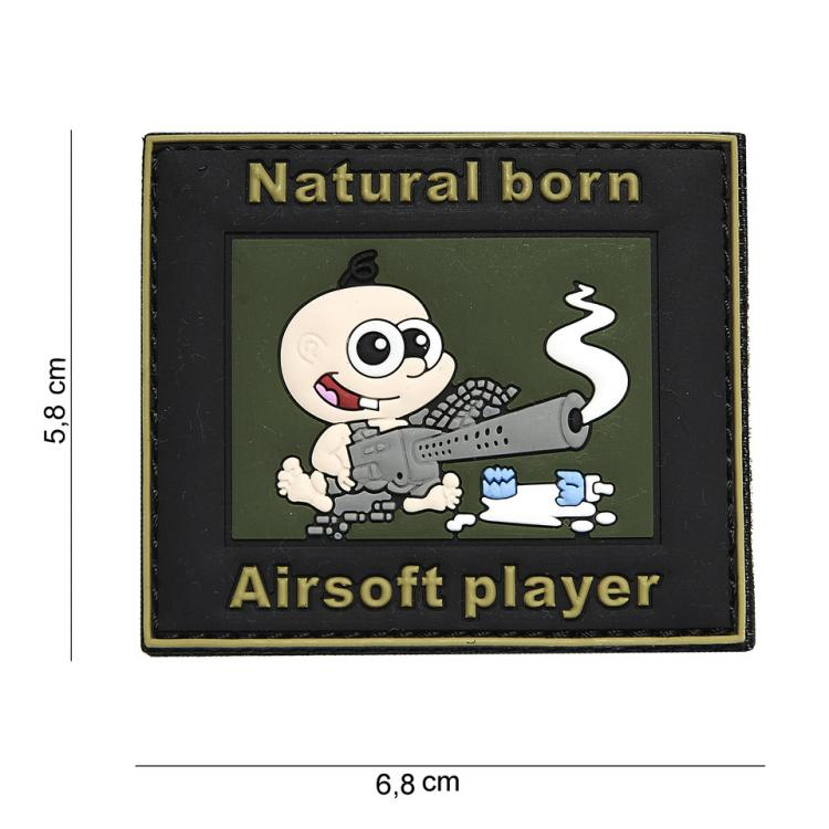RUBBER PATCH NATURAL BORN  AIRSOFT PLAYER