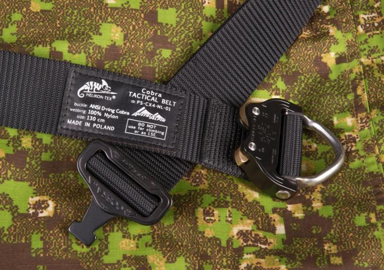 HELIKON TEX COBRA D-RING TACTICAL BELT FX45 SCHWARZ LARGE/130CM