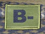 ID Patch Bloodgroup OD Green / Desert with Velcro B Neg