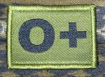 ID Patch Bloodgroup OD Green / Desert with Velcro Null Pos