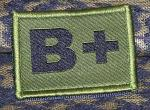 ID Patch Bloodgroup Desert with Velcro B Pos