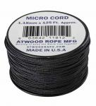 MICRO CORD PARACORD 125 Ft. SCHWARZ
