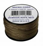 MICRO CORD PARACORD 125 Ft. COYOTE