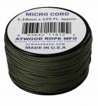 MICRO CORD PARACORD 125 Ft. OLIVE