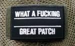 WHAT A FUCKING GREAT PATCH NACHTLEUCHTEND SCHWARZ