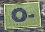 ID Patch Bloodgroup OD Green / Desert with Velcro Null Neg