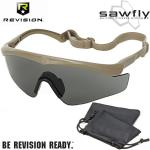 Revision Military Eyewear SAWFLY BASIC Grauglas Tan